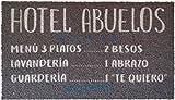 KOKO DOORMATS Felpudo Hotel Abuelos, Nylon, Gris, 70x40x0.5 cm..