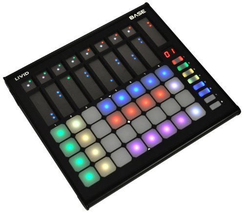 Livid Instruments Base MIDI Kontroller (32 Pressure Sensitive Pad, 8-Touch Buttons, USB)