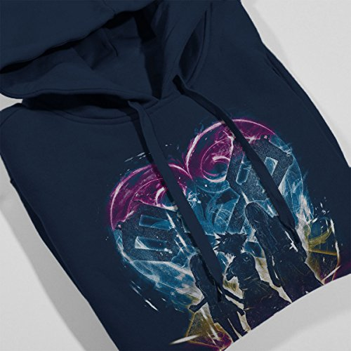 Kingdom Hearts Trio Rainbow Women's Hooded Sweatshirt Navy Blue