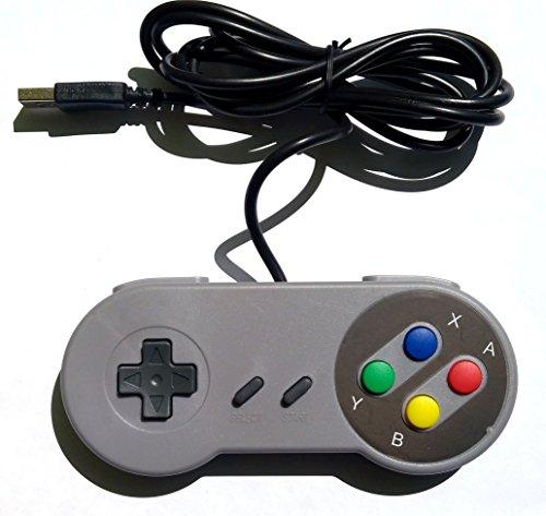 Retrozone SNES-simile USB Gamepad v2, compatibile Windows PC, Mac, Raspberry Pi Retropie