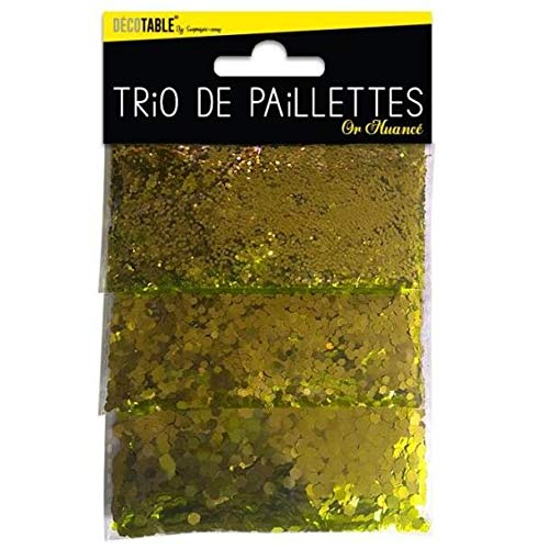 Trio mit Pailletten Gold (x1) REF/TP00OR X1 Trio