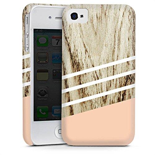 Apple iPhone 5 Housse étui coque protection Look bois Pastel Printemps Cas Premium mat