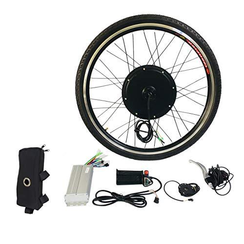 "Kit de conversión de bicicleta eléctrica E de 1000 W Kit de herramienta de aleación de aluminio de 26 ""con eje de bicicleta de rueda delantera Kit de herramienta de aleación de aluminio Sensor de velocidad de cigüeñal"