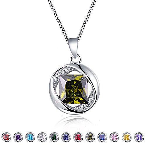 AuroraTears Damen Mystisch Kristall Anhänger mit Kette Glücksstein Halskette 925 Sterling Silber Löwe