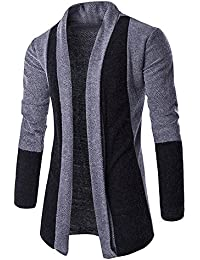 23657dc93af48 Homme d hiver Slim Fit Hooded Tricot Chaud épais Pull Mode Casual Solid  Couleur Cardigan