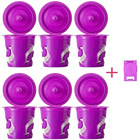 GOLOHO Reusable Purple K-cups Refillable capsule& Freedom Smart Clip For Keurig 2.0 Single Brewing Systems by GOLOHO