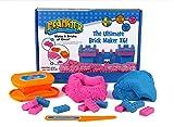 Relevant Play 220-204 Knet-Set mit 2 Farben, 1 Messer und 1 Bausteinformer für 6 Bausteine, Rosa/Blau, 497 g