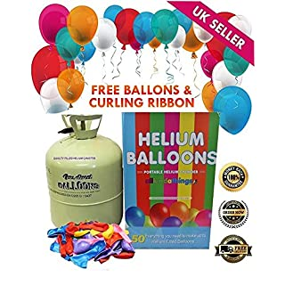 Disposable Helium Large Gas Canister Cylinder To Fill 50 Balloons with Balloons Included