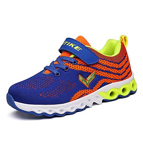 ASHION Jungen Schuhe Sport Kinder Schuhe für Kleine Jungen Kinder Sneakers Frühlingsschuhe Blau