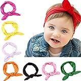 Lomire 10Pcs bandeaux en coton de cheveux pour bébés, serre-tête élastique d'un...
