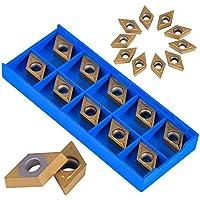 10 pièces inserts en carbure CNC embouts en carbure inserts de coupe pour outil de tournage de tour en métal avec boîte