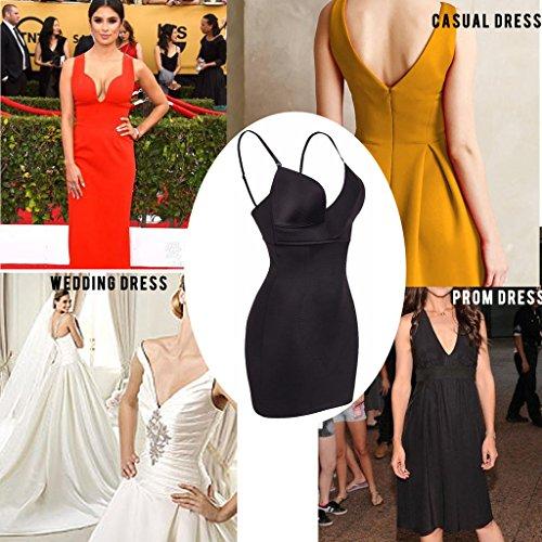 f6b964a0560 NINGMI Womens Shaperwear Control Full Slip dress U Plunge Body ...