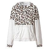 TOPKEAL Drucken Hoodie Reißverschluss Pullover Damen Herbst Winter Kapuzenpullover Sweatshirt Winterpullover Jacke Mantel Tops Mode 2019(XX-Large,Beige)