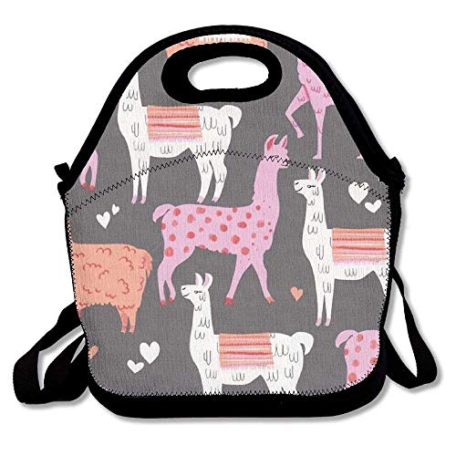 Llama Alpaca Insulated Lunch Bag Picnic Lunch Tote For Work, Picnic, Travelling