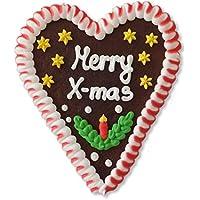 """Lebkuchenherz 16*14 -""""Merry X-Mas - zu Weihnachten das perfekte Mitbringsel"""