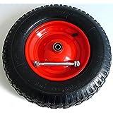 Schubkarrenrad luftbereift 4.80/4.00-8- inkl. Achse Ø 380mm - 92mm Breite - 200kg