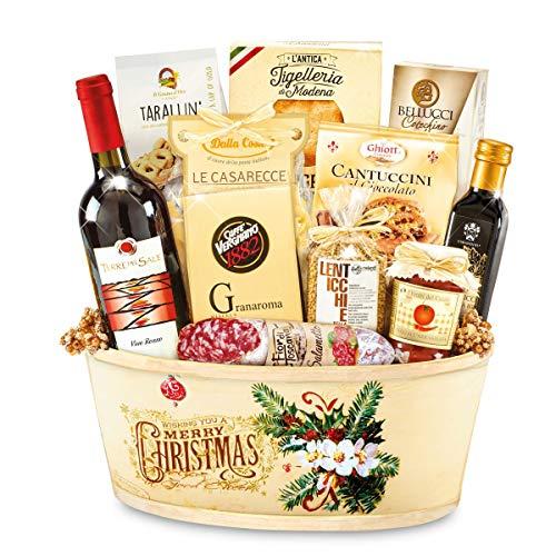 Cesto natalizio camelot 12 pezzi re regalo
