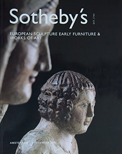 European sculpture, early furniture and works of art, Amsterdam, 3 december 2002, Sale AM0871 par Sotheby's