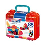 Bristle Blocks Big Value Set with Family and Animal Figurines in a Carry Case with Handle (85 Pieces)