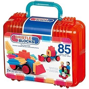 Bristle Blocks 50 pièces dans la valise-STECKSPIELZEUG d/'Blocs de construction