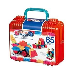 Bristle Blocks Big Value - Maletín de Juego de construcción con muñecos y Animales (85 Piezas)