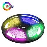Weihnachten RGB LED Lichtleiste,5M LED Streifen, DC24V 300 SMD5050 LEDs Flexible LED Strip Light für Küchenschrank Schlafzimmer Startseite Dekorative Beleuchtung Innenraum [Energieklasse A++]