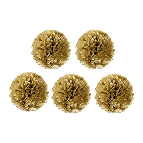 e Papier Pom Pom Blumen Ball, 5 Stück ()