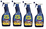 4 x 500 ml Pest Shield Household Flea Killing Spray Ideal For Cat Dog Bed Carpet Kennels Hutches Soft Furniture