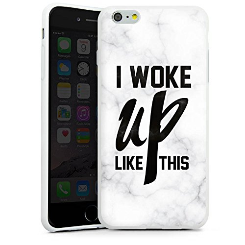 Apple iPhone X Silikon Hülle Case Schutzhülle Flawless Beyonce I woke up like this Silikon Case weiß