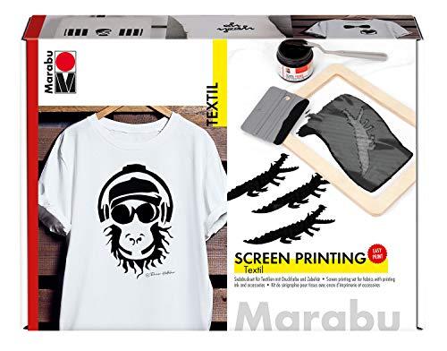 Marabu 1703000000082 - Set serigrafía Tejidos claros
