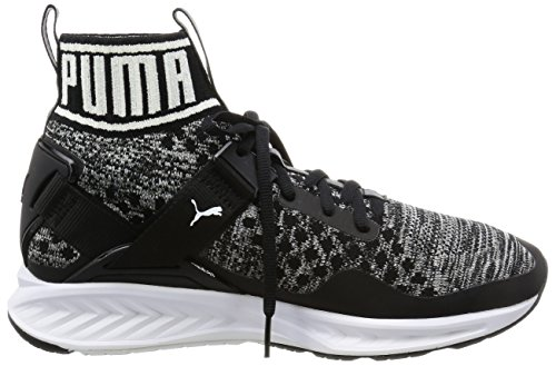Puma Unisex-Erwachsene Ignite Evoknit Laufschuhe Schwarz (puma black-quiet shade-puma white 01)