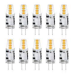 Reteck G4 1.5W LED Lampen, 130LM, Ersetzt 10W Halogenlampen, Warmweiß(2900K), Nicht Dimmbar, 12V AC/DC, G4 LED Leuchtmittel Birne, G4 LED Glühlampe,10er Pack