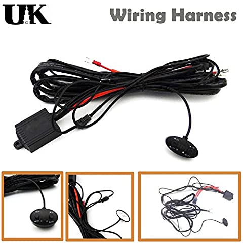 10FT 40A Power Switch & Relay Wiring Harness Kit with Flashing Function 12V 24V for LED Light Lamp