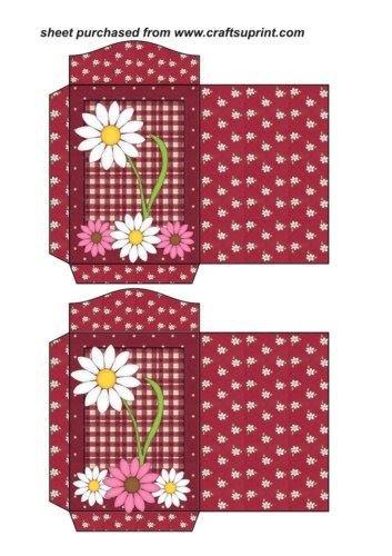 Feuille A4 pour confection de carte de vœux - 2 White daisy seed packets par Sharon Poore