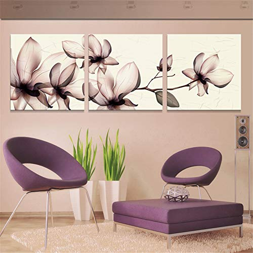 WSNDG Kristall Blume Dekoration leinwand malerei dreifache leinwand malerei Kunst malerei ölgemälde ohne bilderrahmen A4 50 cm * 50 cm * 3 (kein Rahmen)