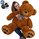 Teddy Bear L-XXXL Size Colour Choice 90cm/ 0.9m/ 35In/ 3ft Kids Soft Plush Teddies Brown Big Large Giant Child Christmas Gift Toys Dolls