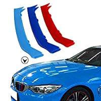 Muchkey for BMW 4 Series F32 F33 F36 420i 428i 430i 435i 440i 2013-2017 Car Front Grille Insert Trims 3D M Styling Grill Cover Insert Trim Clips 2PCS (9 Grilles one Side)