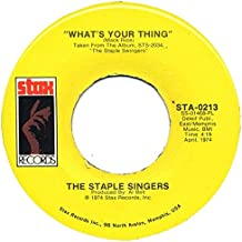 """WHAT'S YOUR THING/WHICHA WAY DID IT GO 7 INCH (7"""" VINYL 45) US STAX 1974"""