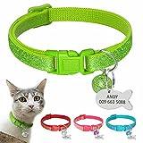Berry Kätzchen abtrünnigen Halsbänder–Sparkle Custom Pet ID Hund Katze Halsbänder–Personalisierte Gravieren Kätzchen Cat ID Tags