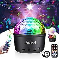 Bola discoteca LED Luz de escenario Luz de noche Bluetooth Luces 9w noche colorida Modo de luz Con control remoto Sonido activado Iluminación Disco Luz para cumpleaños DJ Kids Xmas Club Wedding
