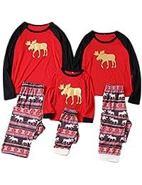 Conjunto de pijamas de Navidad a juego de la familia Conjunto de pijamas de pijama de niños adultos Conjunto de pijamas de alces para bebés