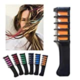 Color A: HKFV Creative Unique Design Temporary Hair Chalk Dye Powder With Comb
