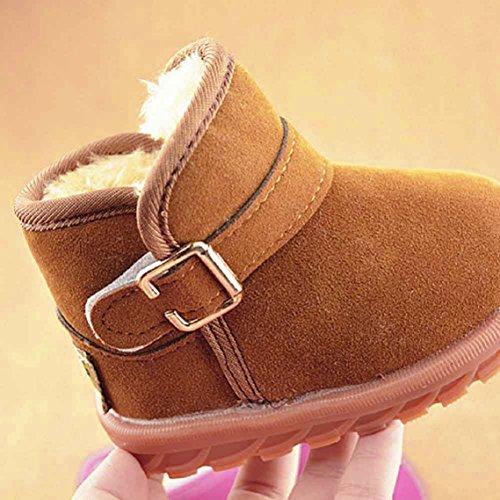 BZLine® Baby Winter-Baby Schneestiefel Kind Baumwolle warme Stiefel Khaki