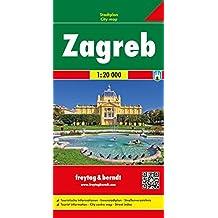 Freytag Berndt Stadtpläne, Zagreb - Maßstab 1:20.000