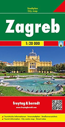 Zagreb, plano callejero. Escala 1:20.000. Freytag & Berndt. por VV.AA.