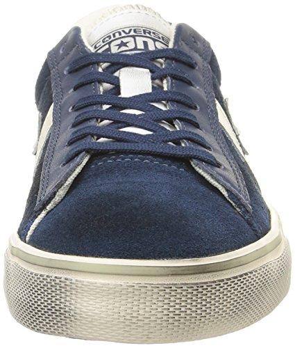 Converse Herren, , pro leather vulc ox suede/lth, blau (dress blue/off white) blau (Dress Blue/Off White)