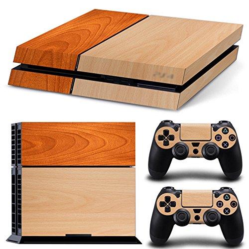 Holz Vinyl Aufkleber Full Body Blenden Haut Aufkleber für Sony PlayStation 4PS4Konsole X 1und Controller X 2 - Destiny Konsole 4 Playstation