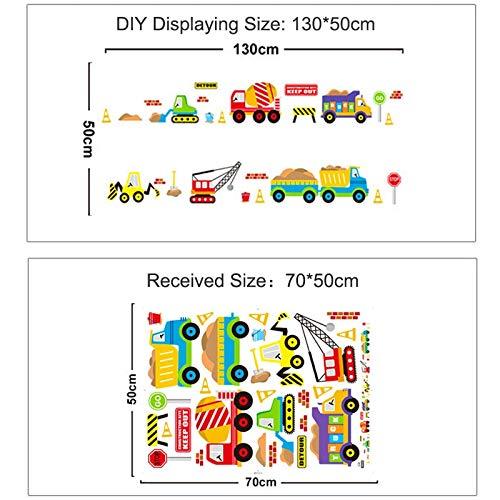 JXND Cartoon Fahrzeug Verkehr Auto Bus Wandaufkleber Kinderzimmer Wohnzimmer Kindergarten Baby Kindergarten Dekoration Wasserdicht