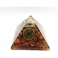 Karneol Energetische Kristall Edelstein Pyramide mit Reiki Symbol Messing Chip Energie Generator für Reiki Healing... preisvergleich bei billige-tabletten.eu