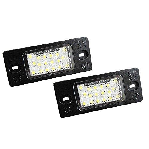 GZLMMY 2X 18 LED Kennzeichenbeleuchtung Nummer Lampe Für GOLF 5 Touareg Dreibettzimmer Can-bus Auto Schwanz Beleuchtung Quelle